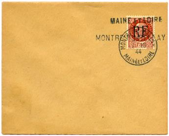 n°17 (MAYER) obl. sur lettre - Timbre FRANCE Libération (Montreuil-Bellay)