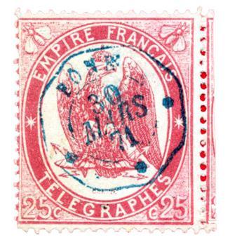 n°5 obl. TB - Timbre FRANCE Télégraphe