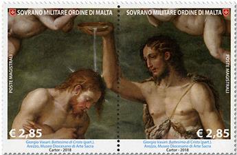 n° 1431/1432 - Timbre ORDRE de MALTE Poste