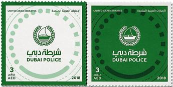 n° 1183/1184 - Timbre EMIRATS ARABES UNIS Poste