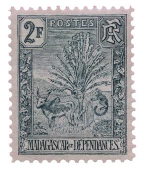 n°76* - Timbre MADAGASCAR Poste