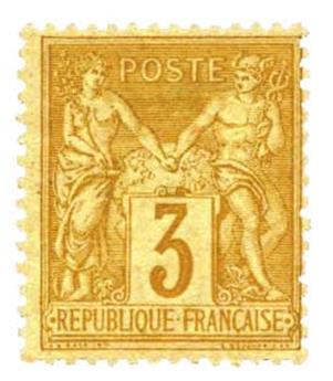 n°86* - Timbre France Poste