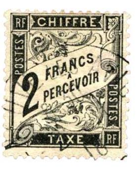 n°23 obl. TB - Timbre France Taxe