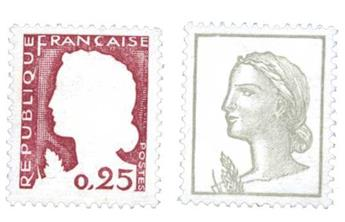 n°1263g,h** - Timbre France Poste