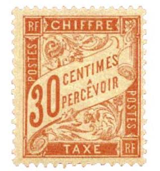 n°34** - Timbre France Taxe