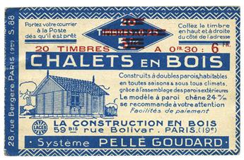 n° 191-C1 - Timbre France Carnets (Chalet)