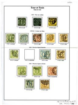 ALLEMAGNE TOUR ET TAXIS  : 16 timbres obl. entre n°32 et 52