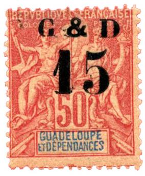 n°47a** - Timbre GUADELOUPE Poste