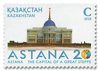 n° 820 - Timbre KAZAKHSTAN Poste