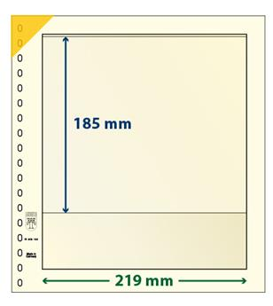 Feuille neutre LINDNER-T : 1 bande-802109P (x10)