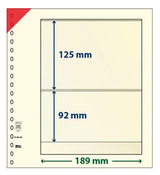 Feuille neutre LINDNER-T : 2 bandes-802205 (x10)
