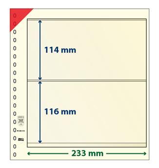 Feuille neutre LINDNER-T : 2 bandes-802212P (x10)