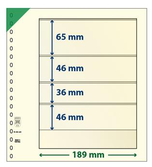 Feuille neutre LINDNER-T : 4 bandes-802406 (x10)-Hors cat.