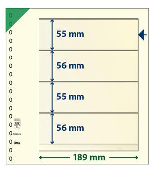 Feuille neutre LINDNER-T : 4 bandes-802420 (x10)