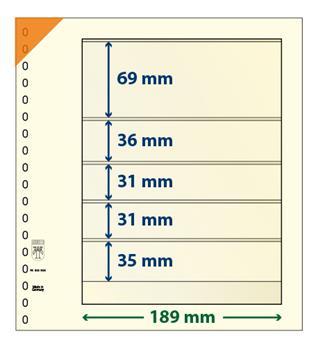 Feuille neutre LINDNER-T : 5 poches-802506 (x10)