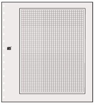 FEUILLES NEUTRES : Blanches avec cadre noir (x10) SAFE® (Hors cat. / Ref 790)