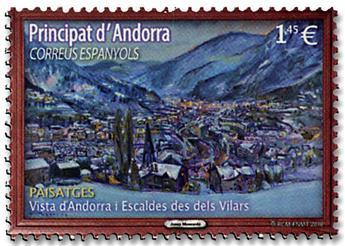 n° 462 - Timbre ANDORRE ESPAGNOL Poste