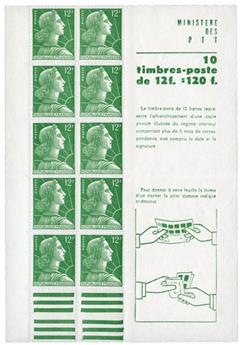 n°1010-C1** - Timbre FRANCE Carnets