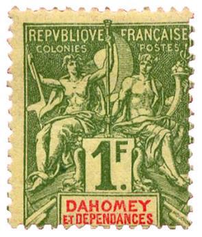 n°15* - Timbre DAHOMEY Poste