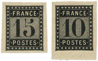 France : Essais Taxe 1876 (*)