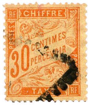 n°34 obl. B - Timbre FRANCE Taxe