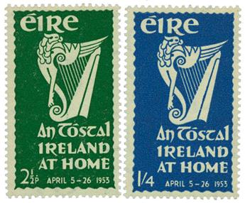 n°118/119** - Timbre IRLANDE  Poste