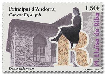 n° 468 - Timbre ANDORRE ESPAGNOL Poste