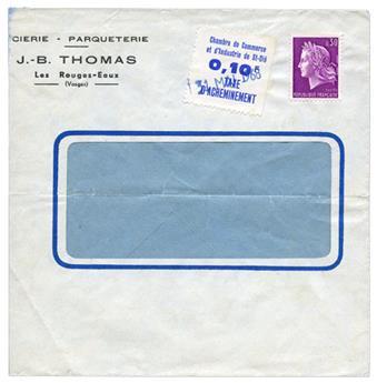 n°7 sur lettre - Timbre FRANCE Greve