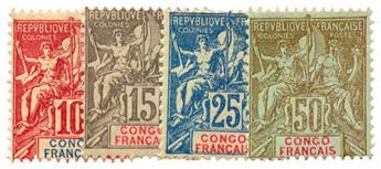 n°42/45* - Timbre CONGO Poste