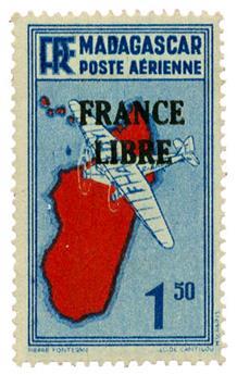 n°45* - Timbre MADAGASCAR Poste Aérienne