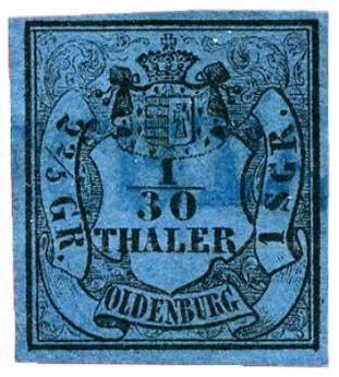 n°2 obl. TB - Timbre ALLEMAGNE OLDENBOURG Poste