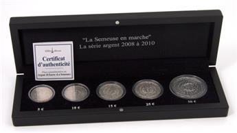 France : Monnaies coffret Semeuse en marche