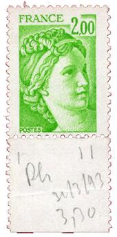 n°1977b** - Timbre FRANCE Poste