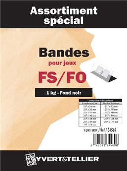 Selection of strips (black background) - 500g.