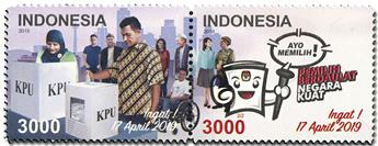n° 2950/2951 - Timbre INDONESIE Poste