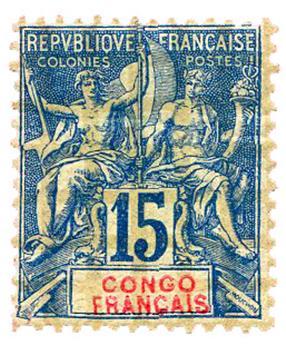 n°17* - Timbre CONGO Poste