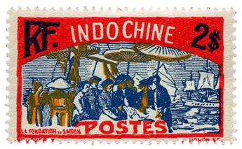 n°146* - Timbre INDOCHINE Poste