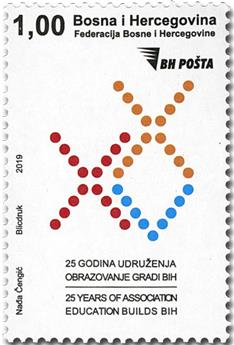 n° 823 - Timbre BOSNIE-HERZEGOVINE Poste
