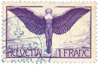 n°12a obl. - Timbre SUISSE  Poste Aérienne