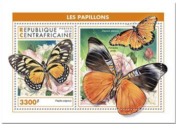 n° 1382 - Timbre CENTRAFRICAINE Blocs et feuillets