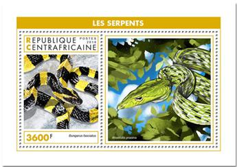 n° 1387 - Timbre CENTRAFRICAINE Blocs et feuillets