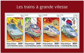 n° 5551/5554 - Timbre CENTRAFRICAINE Poste