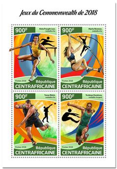 n° 5631/5634 - Timbre CENTRAFRICAINE Poste