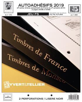 FRANCE AUTOADHESIFS FS : 2019 - 2EME SEMESTRE (Sans pochettes)