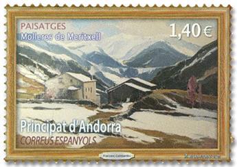 n° 476 - Timbre ANDORRE ESPAGNOL Poste