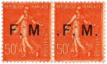 n°6a et b* - Timbre FRANCE Franchise Militaire