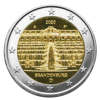 2 EURO COMMEMORATIVE 2020 : ALLEMAGNE (Presidence du BRANDEBOURG au Bundesrat)