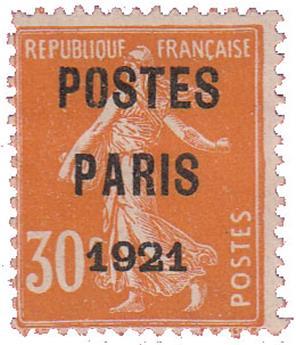 n°29(*) - Timbre FRANCE Préoblitérés
