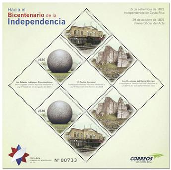 n° 75 - Timbre COSTA RICA Blocs et feuillets