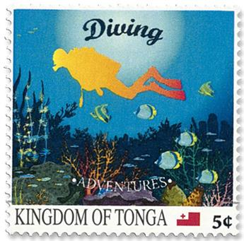 n°1552/1561 - Timbre TONGA Poste